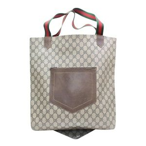 Monogram Web Pocket Tote 867382